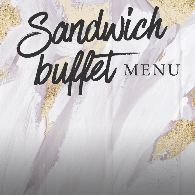 Sandwich buffet menu at The Fox
