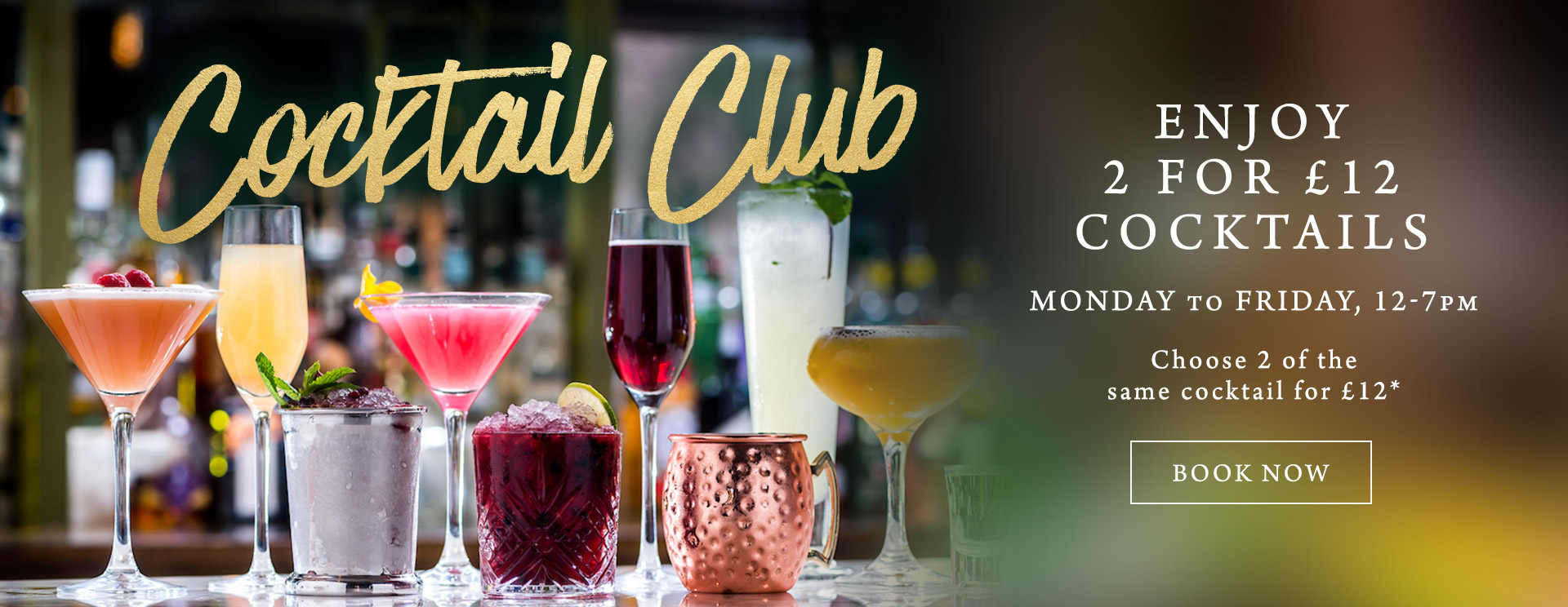 2 for £12 cocktails at The Fox